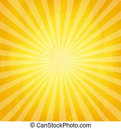 verfrommeld, zonnestraal, gele achtergrond