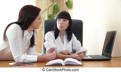 vergadering, handel team