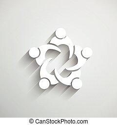 vergadering mensen, circle., groep
