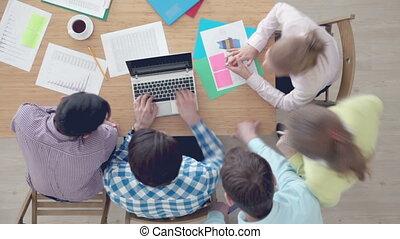 vergadering, team, zakelijk