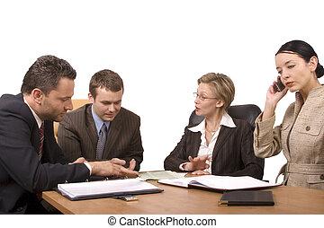 vergadering, zakelijk