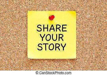 verhaal, aandeel, informatietechnologie, aantekening, post, jouw