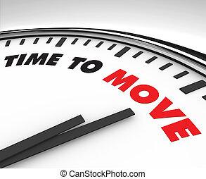 verhuizen, -, regeel klok