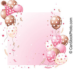 verjaardag kaart, roze