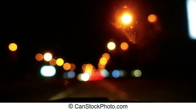 verkeer, 4k, nacht
