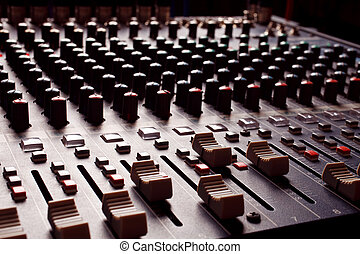 vermenging, audio, console