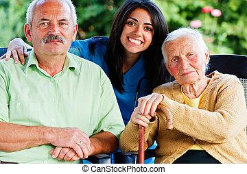 verpleegkundige, oudere mensen