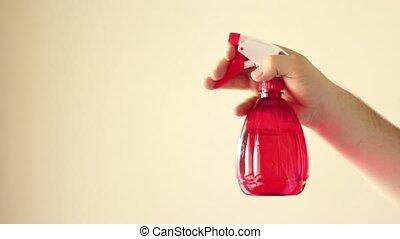 verpulveren, poetsen, rood