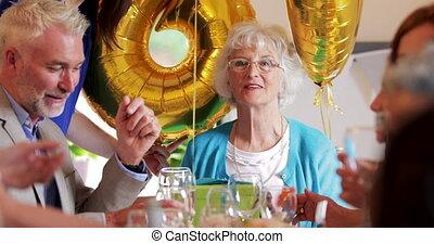 verrassing, diner, gran, feestje