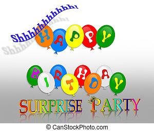 verrassing, verjaardagsfeest