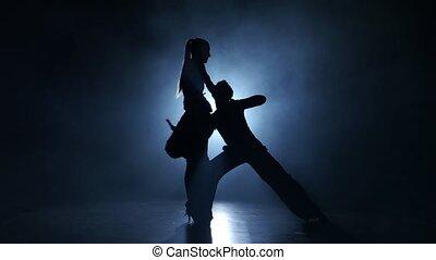 verricht, latinamerican, dans, bevallig, rokerig, emotioneel, kampioenen, studio