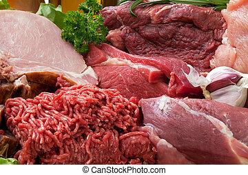 vers vlees, achtergrond, rauwe