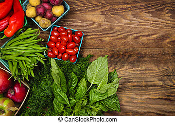 verse grostes, markt, vruchten