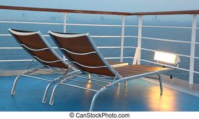 versieren stoelen, verhuizing, cruise, paar, scheeps