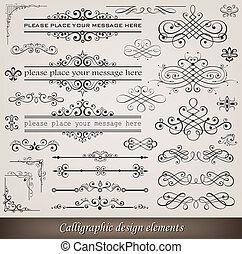 versiering, communie, pagina, calligraphic