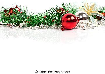 versiering, kerstmis, achtergrond