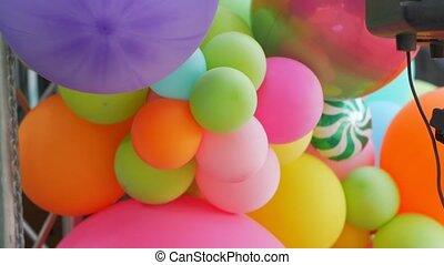 versiering, kleur, ballons