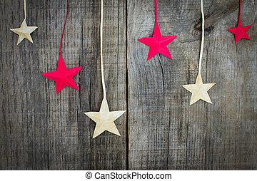 versiering, ster, kerstmis