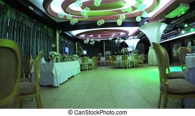 versiering, zaal, trouwfeest