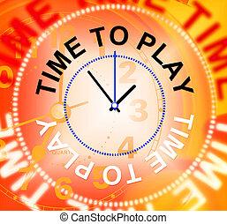 vertegenwoordigt, ontspanning, toneelstuk, blij, tijd, spelend