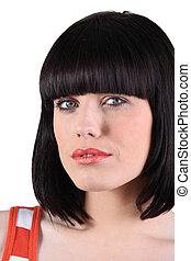 verticaal, brunette