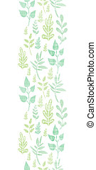 verticaal, lente, bladeren, seamless, textiel, achtergrond, textured, model, grens