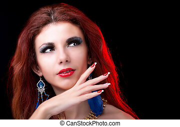verticaal, mode, beauty, woman.