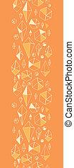verticaal, model, abstract, seamless, chrystals, geometrische rand