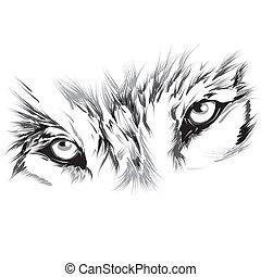 verticaal, wolf