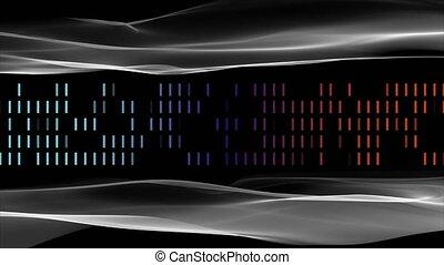 vertragen, 4096x2304, motie, voorwerp, strepen, golf, animatie, video, futuristisch, lus, 4k