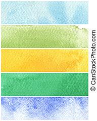 verven, textuur, papier, achtergrond, -, groot, watercolor, ruige