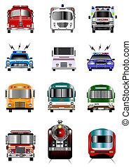 vervoer, iconen