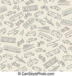 vervoer, seamless, achtergrond