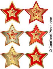 verzameling, sterretjes, (vector)