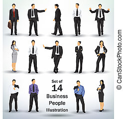verzameling, zakenlui