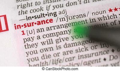 verzekering, definitie