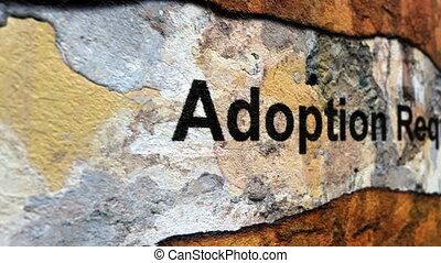 verzoek, concept, grunge, adoptie