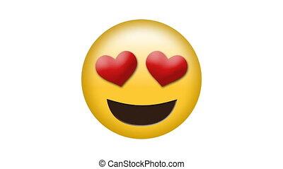 video, emoji, digitale , genereren, liefde