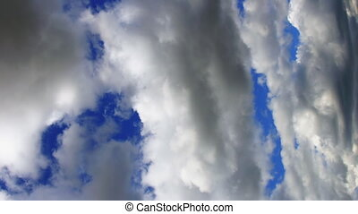 video, hemel, bewegende wolken, verticaal