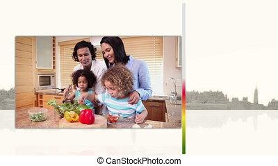 video's, het koken, families
