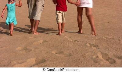 vier, zand, achter, gezin