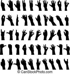 vijftig, handen