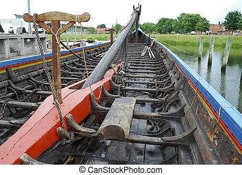 viking schip, reproductie