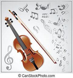 violin., muzikalisch, achtergrond