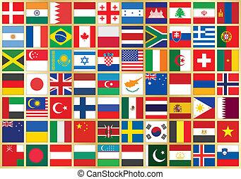 vlag, achtergrond, iconen