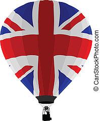 vlag, balloon, uk, lucht