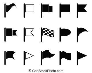 vlag, black , iconen