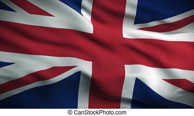 vlag, brits, looped., hd.