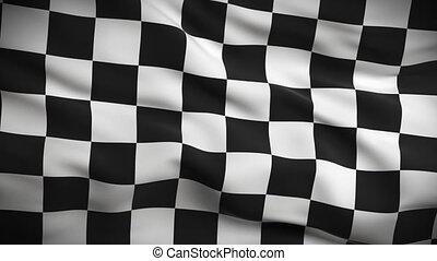 vlag, checkered, looped., hd.