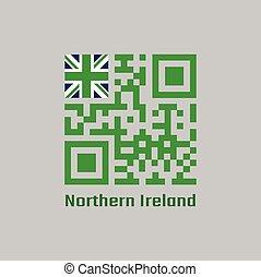vlag, code, unie, noordelijk, qr, kleur, groene, text:, set, ierland